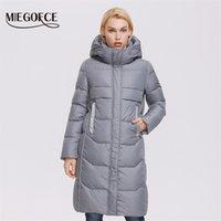 Miegofce Kış Kadın Ceket Uzun Yüksek Kaliteli Pamuk Ceket Kadın Sıcak Ceket H Sürüm Basit Parka D21844 211019