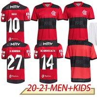 2021 Top Flamengo Soccer Jersey Patama Guerrero Diego Vinicius Jr Goleiro Flamenco 21 22 Gabriel B. 2022 Camisa de Futebol Casa Away Red White