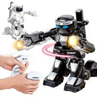 2.4G الرياضة التحكم عن بعد زجاجة الملاكمة روبوت تنافسية مزدوجة القتال ذكي روبوت نموذج اللعب