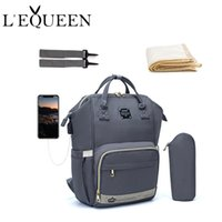 Lequeen Fashion Mummy Maternity Nappy Bag Brand Large Capacity Baby Bag Travel Backpack Designer Nursing Bag for Baby Care 210923