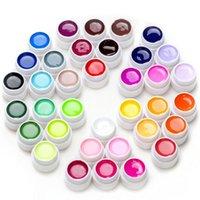 36 adet SOUAK OFF LED UV Jel Oje Saf Renk Tırnak UV Jel Set Kiti Yarı-Kalıcı Çiviler Sanat Jel Lake