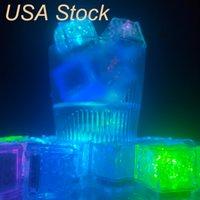 Outras luzes Flash Flash Ice Cube Activado à Água LED luz colocado em água bebida automaticamente para barras de casamento de festa de Natal EUA Stock