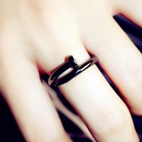 Jinyan Fashion Show Temperament Titanium Steel Nail Ring Japanese Personality Trendy Jewelry Boys and Women Lovers