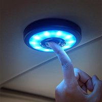 Car Accessories Interior Ornament Touch Type Night Light Roof Ceiling Magnet Lamp Automobile Reading LED Emergency Lights