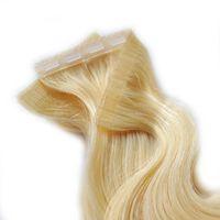 Boa qualidade fita em HeadExtension Snap Button Grampo de cabelo para pele Wefthair Extensions 5egram uma peça 100 peças / pacote preto / branco