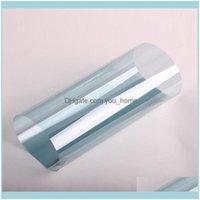 Window Decorative Décor & Gardenwindow Stickers Hohofilm 50Cmx200Cm Light Blue Tint Shield Film House Glass Sticker 99% Uv Proof 75%Vlt Home