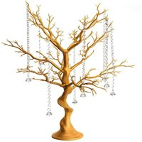 Wedding Decoration Party Road Lead Flower Table Stand Crystal Gold Centerpieces For Vases