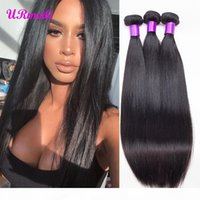 9A Brazilian Straight Virgin Human Hair Bundles 100% Human Hair Extension DHgate Natural Color 3 4 Bundles Straight Remy Hair Weaves tissage
