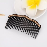 Hair Brushes 7pcs Clip Combs Rhinestone Comb Wedding Bridal Accessories For And Girls (Waves Double Row)
