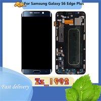"""Сотовый телефон сенсорные панели 5.7 """"Оригинал для Samsung Galaxy S6 Edge Plus G928 ЖК-экран замены Digitizer дисплей синего белого золота с рамкой"""