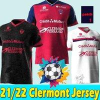 21/22 Maillots Clermont Foot 63 Soccer Jerseys 2021 2022 Bayo Dossou Allevinah Berthomier Magnin Iglesias Dile a su hogar Tercer Jersey