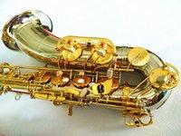 Tenor Saksafon Yanagisawa T-WO37 Nikel Kaplama Altın Anahtar Sax Profesyonel Ağızlık Yamalar Pedler Sazlık Viraj Boyun Kılıfı Ile