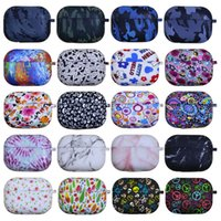 Earphone Accessories for Airpods Pro 3 Silicone Printing Case Protective Cover Wireless Bluetooth Headset Earbuds Anti-drop 25 Colors High Quality