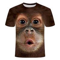 2020 herren t-shirts 3d bedruckt tier monkey tshirt kurze hülse lustig design casual tops tees männlich halloween t shirt hemd 5xlsoccer jersey