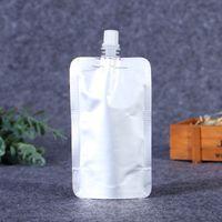 Doypack 150ml 250ml 350ml 500ml Aluminum Foil Stand Up Spout Liquid Bag Beverage Pack Squeeze Drink Spout Pouch B3