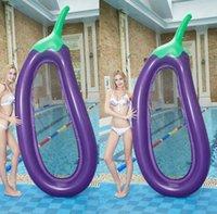 Aubergine gonflable flotte flottant eau hamac radeau de bain piscine sport matelas salon baignade lit plage jouant des tubes de bague jouet