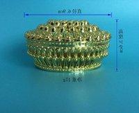 Luxus Goldener Silber Pfau Runde Süßigkeiten Box Treasure Brust Hochzeit Gunst Party Supplies Großhandel Geschenk Wrap
