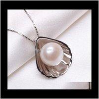 Großhandel MS 1011mm Natürliche Perle Halskette Shell Typ Silber Schmuck YDB420 8AIAP Halsketten XBHXS