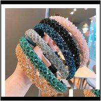 Autre Drop Livraison 2021 Crystal Bandeau Femme Filles Luxe Bandeaux De Luxe Brillant Mode Bande à la main Diamant Hoop Hoop Aessories