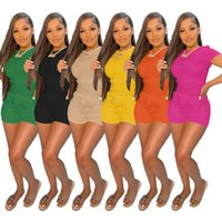 Женщины Scrussuits 2 Piece Outfit с коротким рукавом Slim Fit T-Corn и Biker Shorts Соответствующий набор фитнес-спортивный спортивный уличный котел повязка