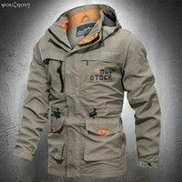 Men's Jackets Spring Autumn Men Outdoor Jacket Waterproof Hiking Coat Outwear Windbreaker Lightweight Fashion With Pockets