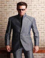Trajes para hombres Blazers Fantásticos diseño gris hombres 2021 Troughy Guy Style Cool Groomsmen Man Weding Taxedos Blazer con pantalones