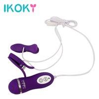 IKOKY MASSAGEM MASSAGEM Mulheres Vibrador Vibrador Vibrating mamilo braçadeiras de silicone vibradores brinquedos sexuais para mulheres 10 freqüência y18102006