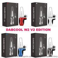 Auténtico DABCOOL W2 V2 DAB RIG Concentrado mejorado Dispositivo de vaporizador de cera 1500mAh Sistema de control de temperatura de la batería Fumar Bong 100% original