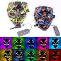 Máscara Halloween LED LED Encendido Divertido El año de la elección de purga Gran festival de cosplay Suministros de traje de cosplay Máscaras de fiesta