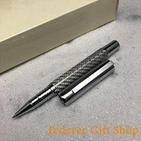حبر جافت أقلام فوليون الأسطوانة الكرة القلم الفضة حك الألياف الثقيلة المعادن هدية F9028