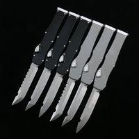 Halo VI 자동 칼 T / E S / E HellHound D2 블레이드 당김 꼬리 6061-T6aviation 알루미늄 합금 캠핑 생존 전술 칼 야외 EDC 도구