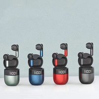 Drahtlose Ohrhörer Bluetooth TWS 5.0 Kopfhörer mit Ladekoffer J28 in EAR Digital Display Headset WIHT Retail Box