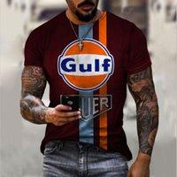 Gulf Original Stampa 3D T-shirt Unica Fashion Beautiful Beautiful Traspibile Confortevole Partito Daily Party Viaggio Visual Impact Gothic Style Mens Maniche corte