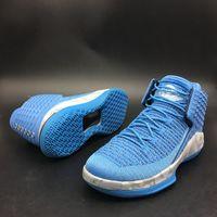 Nuevas zapatillas de deporte 32 xxxii unc weave zapatos de baloncesto Tar tacones universidad azul kurim superposición marged intersole deporte al aire libre entrena