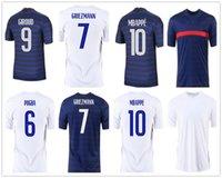 Mbappe Grizmann Pogba Giroud Kante Jerseys 2021 الصفحة الرئيسية لكرة القدم جيرسي كرة القدم قمصان الكبار الرجال