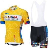 2021 Kolumbien Radfahren Jersey Bike Shorts BIB Set ROPA CICLISMO MENS MTB Uniform Sommer Pro Cyicycling MAILLOT Bottom Clothing