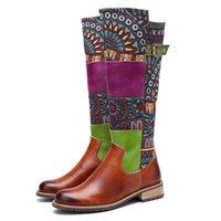 Botas Bohemia Estilo Mulheres Primavera Outono Moda Embrudoder Long Para Sapatos Femininos Mulher Motocicleta Boot Botas