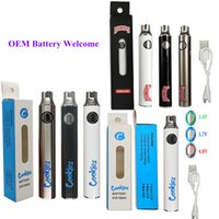 Dabwoods Vape Pen Battery Cookies 650mAh Preheat Vaporizer Pen 510 Thread Battery Variable Voltage USB Cable Charger cartridges Batteries Packaging In Stock