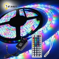 Strips SMD 2835 3528 RGB Led Tap Remote Control Strip Light Waterproof Diode Ribbon Flexible For Home Decoration Set