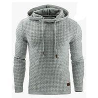 Men's Hoodies & Sweatshirts 3D Lattice Solid Spring Autumn Fashion Causal Streetwear Harajuku Hooded Sweatshirt Male Tracksuit Plus Size