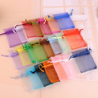 Small Jewelry Pouch 100pcs lot 7x9cm Colorful Bolsas De Organza Bag For Wedding Favors And Gifts Packaging Can Custom Logo