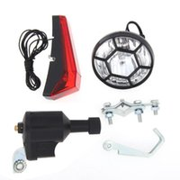 Bike Lights Bicycle Dynamo Set Cycle Safety No Batteries Needed Headlight Rear For All Bikes