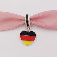 AnnaJewel 925 Silver Beads Germany Heart Flag Pendant Charm Fits European Pandora Style Jewelry Bracelets & Necklace for jewelry making 791545ENMX