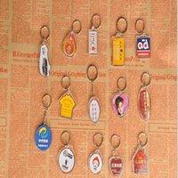 DIY Acryl Blank 5000pcs / lot Schlüsselkunststoff Foto Schlüsselanhänger Ketten Einfügen Tensiringe Transparent Dmaib