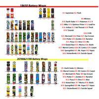 76 Tip 18650 20700 21700 Serisi Pil Sarar PVC Cilt Sticker Beşik Sarıcı Kapak Kollu Isı Küçültmek Piller için tekrar sarma