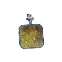 Regalo Cristal Natural Varios Piedra Colgante Pendiente Amatista Citrino Mineral Joyería de Cuarzo Reiki Healing Energy Decoración del hogar