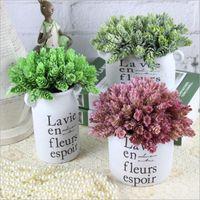 Heads / bundle pin pin ananas herbe plante artificielle bricolage maison vase décoration fausse plastique fleur pompons fleurs décoratives couronnes