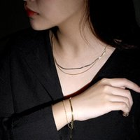 Chains 925 Sterling Silver Fashion Double Layered Clavicle Chain Necklace Lollipop Ghost Broom Pumpkin Pendant Bracelet Jewelry