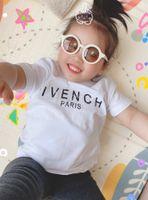 T-shirt in cotone estate per bambini ragazzi ragazze in cotone maniche corte maniche tshirt cause bambini tees vestiti di moda superiore