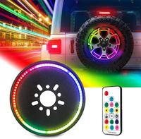 Lampe de frein de pneu de secours RGB, 3ème lampe de roue arrière de la troisième lampe de la queue pour 2007-2018 + Jeep Wrangler JK JL / JLU